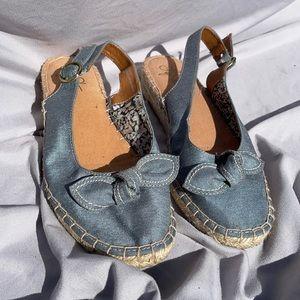 Life Stride Blue Blow Tie Sandal